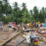Destruction in Hambantota, photo taken by Asantha